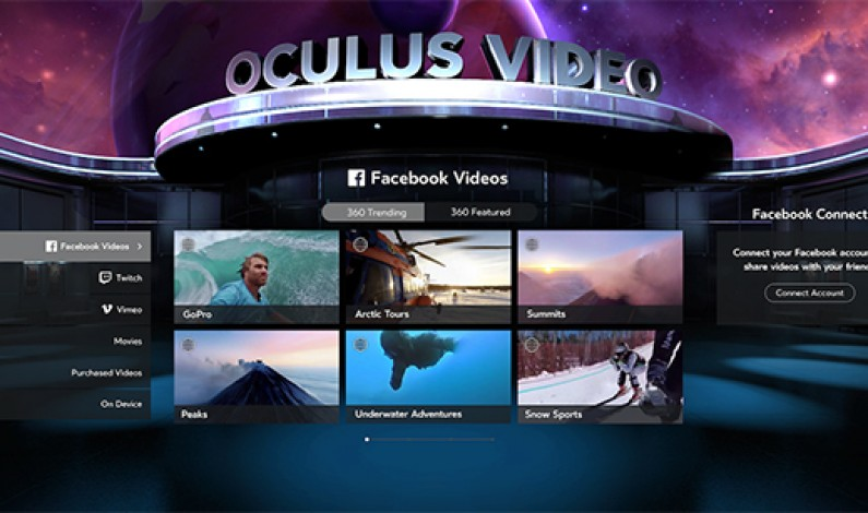 Facebook 360 content finds a new virtual home on Oculus Video