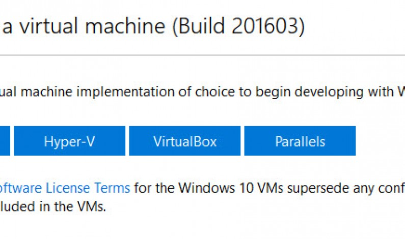 Microsoft updates ready-to-run Windows 10 virtual machines for developers